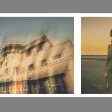 The Airport (2019) by Tracey Moffatt, diptych, large C-type print.