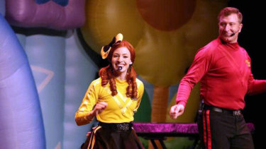 Yellow Wiggle Emma Watkins on stage at the Civic in Invercargill, New Zealand, on March 19.