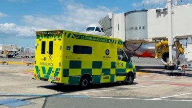 Police and St John Ambulance workers in Auckland tried to save a man who suffered a medical emergency on the flight.