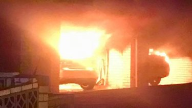 Three fires started in Highgate Hill, Brisbane, overnight on Wednesday.