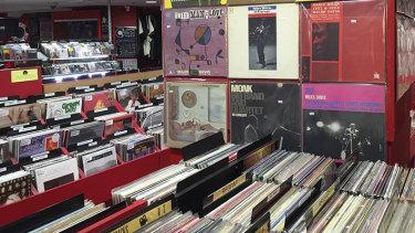 Red Eye Records shopfront.