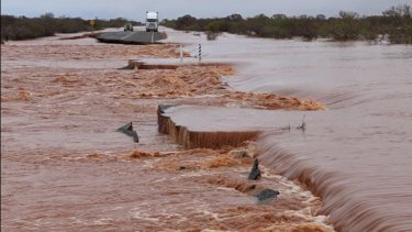 Stranded people had to be rescued as floods wreaked havoc in Carnarvon in WA's north.