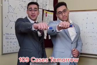 TikTok comedian Jon-Bernard Kairouz (left) inaccurately predicts Monday's numbers.