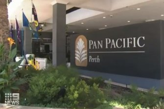 The Pan Pacific Hotel in Perth was the source of an outbreak.