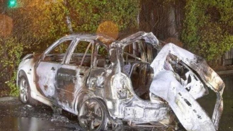 """The car exploded in what police described as a """"ball of fire"""" after the crash."""