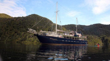 The Milford Wanderer snagged a historic anchor near Stewart Island, NZ.