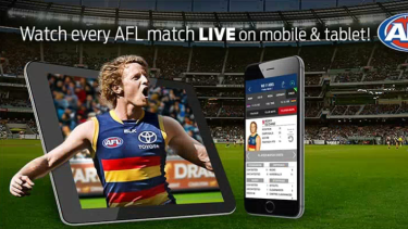 Telstra's AFL Live Pass app.