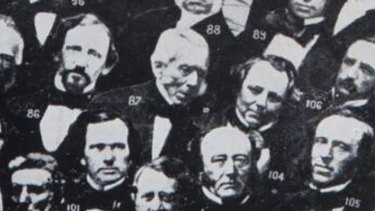 Joseph Thomson (centre number 87) whose remains have just been discovered.