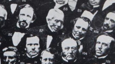Joseph Thomson (centre, number 87) whose grave has just been discovered under Central Station.