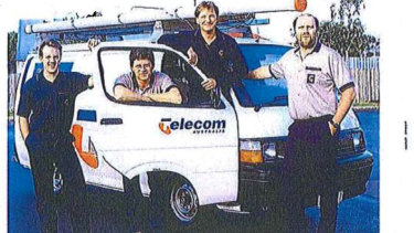 An example of the Telstra uniform from its corporate magazine in the mid-90s.