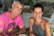 Kate James with husband Chris.