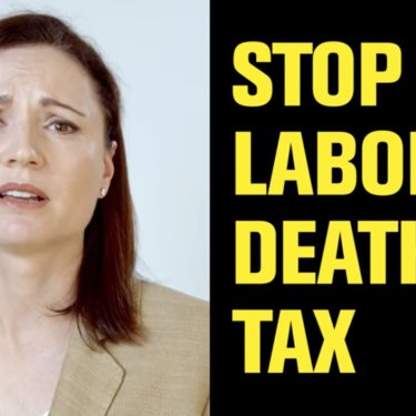 Clive Palmer's United Australia Party ad falsely claimed in the recent Queensland election that Labor would introduce a death tax.