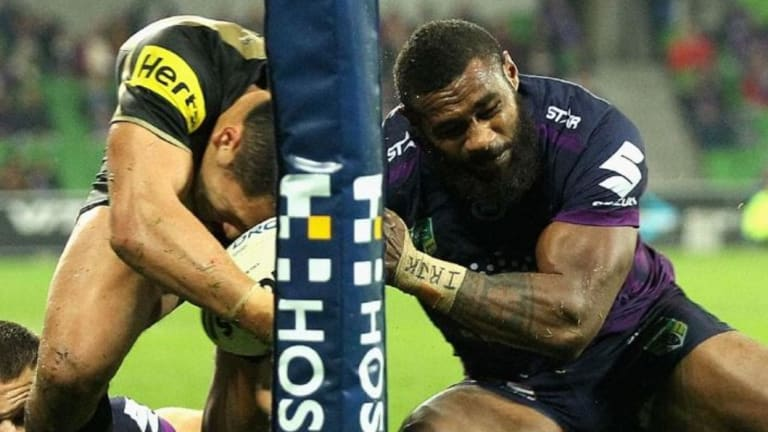 'Desperate': Marika Koroibete was found not to have a case to answer for this tackle on Dallin Watene-Zelezniak.