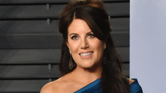 Monica Lewinsky walks off the stage after question about Bill Clinton