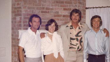 A family photo showing, from left, Don Reed Herring, Elizabeth Warren, John Herring, David Herring.