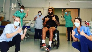 Mose Masoe left hospital in England last month to free up space due to the coronavirus pandemic.