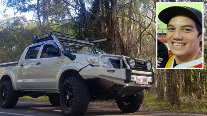 Stolen ute exceeded 100km/h with towel-wearing owner clinging on