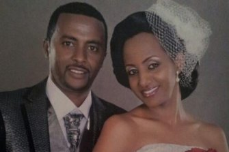 Mr Tadese with his wife, Genet Abebe.