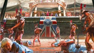 Fu Yu's depiction of the UK's handling of coronavirus.
