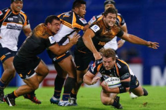 Falling down: The Brumbies couldn't get off the ground against the Jaguares.