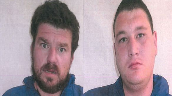 Weglewski (on the left) and Harris on the right were jailed on Friday.