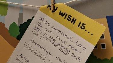 A rather strange wish.
