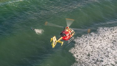 The Westpac Rescue Helicopter and two RACQ LifeFlight Rescue helicopters were involved in the search.