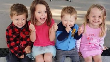 Aaleyn, 6, Matilda, 5, Wyatt, 4, and Zaidok, 2 were killed in the crash.
