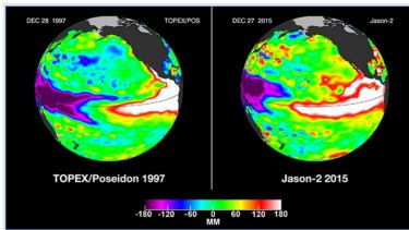 El Ninos that formed in the eastern equatorial Pacific are becoming relatively rare, compared with those in the central Pacific. The 1997-98 and 2015-16 events, though, were two of the most powerful on record.