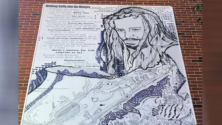The mural of Marty at Curtin University.