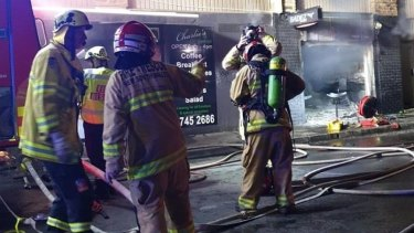 On Tuesday morning, emergency services were called to Fadez Barbershop on George Street in Burwood following reports the shop was on fire.