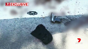 A balaclava, knuckledusters and a replica firearm on the road in Forest Lodge, where Jett McKee died.
