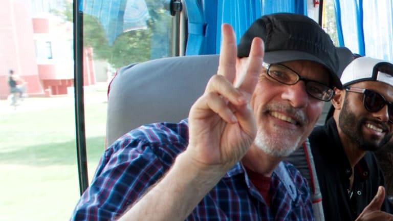 Tim Anderson, conférencier à l'Université de Sydney, lors d'un récent voyage en Corée du Nord.
