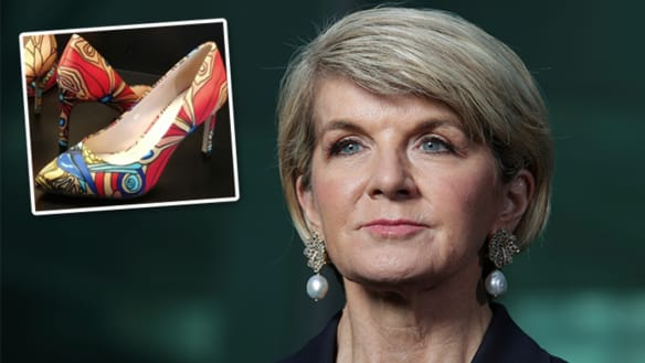 'No record': Julie Bishop facing questions over Jimmy Choo shoes disclosure