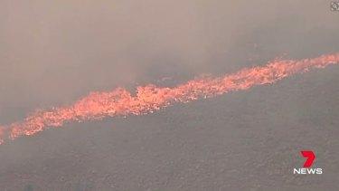 The grassfire near Little River.