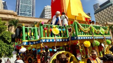 The Hare Krishna Festival of Chariots in Brisbane CBD.