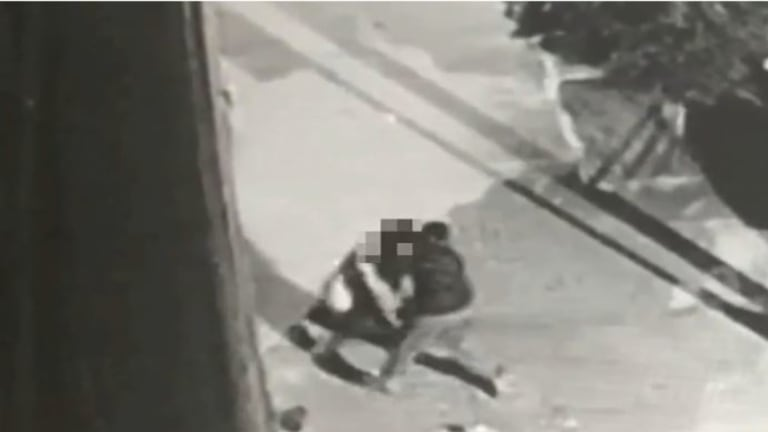 The Australian woman tried to kick her attacker in the groin before he fled.