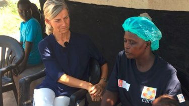 Denmark's Minister for Development Cooperation Ulla Tornaes (left), pictured on a recent trip to Uganda, said aid will be withdrawn from Tanzania.