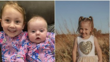 Cleo Smith (left), pictured with her baby sister, went missing from the family's tent overnight at a popular campsite near Carnarvon.