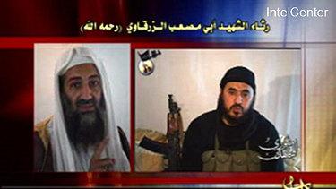 Osama bin Laden, left, and  Abu Musab al-Zarqawi, al-Qaeda chief in Iraq.