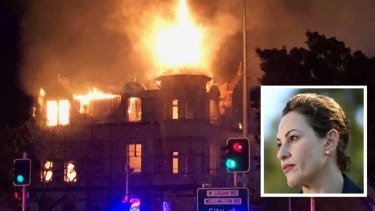 Deputy Premier Jackie Trad has called for Brisbane City Council to ensure the hotel is rebuilt to its original form.