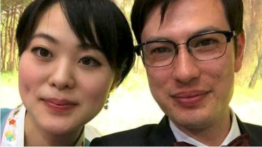 Alek Sigley and his wife Yuka Morinaga.