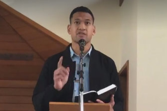 The proposed law would protect people such as footballer Israel Folau.