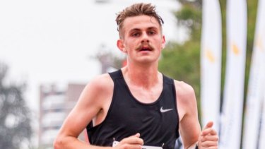 Taking it in his stride: Victorian runner Jack Rayner.