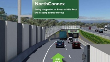 An artist's impression of Sydney's NorthConnex project. Image supplied.