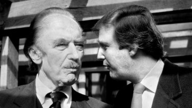 President Donald Trump (right) with his father, legendary New York City builder Fred Trump.