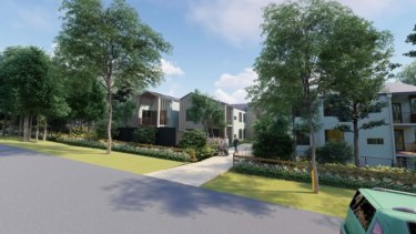 An artist's impression of the aged care facility proposed by developer Tolucy Pty Ltd in Terrey Hills.