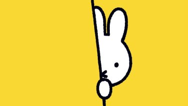 Miffy, the little white rabbit, first drawn by Dutch illustrator Dick Bruna in 1955.