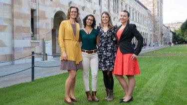 From left: Anna Vinkhuyzen, Bianca Das, Dr Emma Kennedy and Hana Starobova will take part in the Homeward Bound program in 2019.