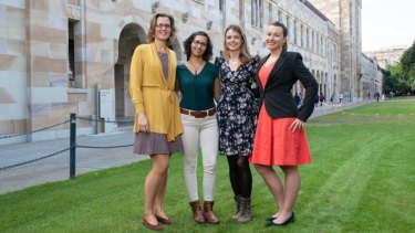 From left: Anna Vinkhuyzen, Bianca Das, Dr Emma Kennedy and Hana Starobova will take part in the Homeward Bound program in 2019.